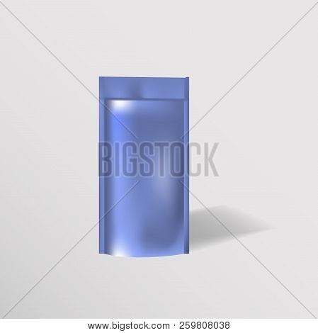 Blank Of Doy Pack For Food Or Drink On White Background Vector Illustration