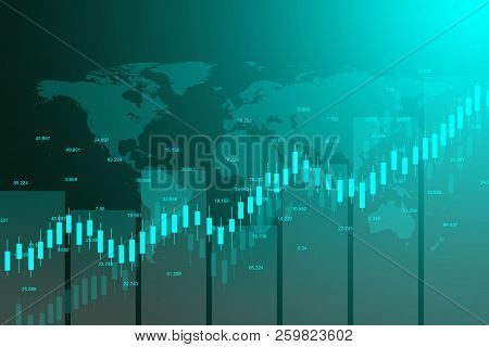 Stock Market Or Forex Trading Graph Chart Suitable For Financial Investment Concept. Economy Trends