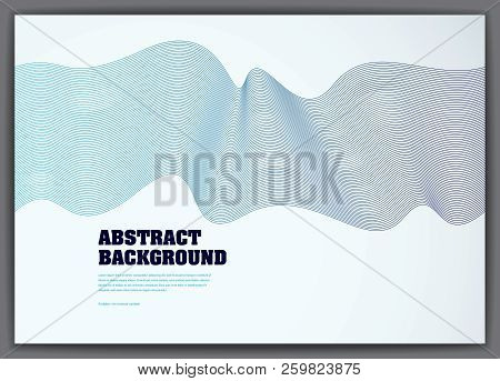 Lined Vector Wave Background Fluid Flow. 3d Dynamic Stripes Motion Art. Lined Texture, Dynamic Surfa