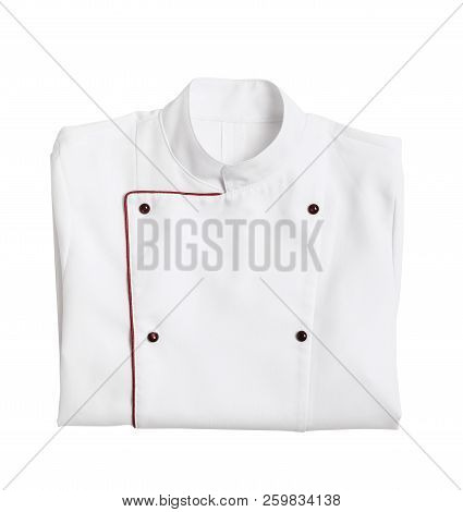Clean Chef's Jacket On White Background. Part Of Uniform