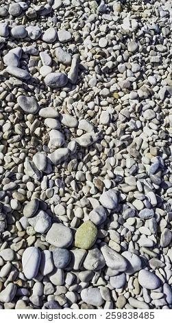 Pebbles On Croatian Beach - Podgora, Makarska Riviera, Dalmatia, Croatia