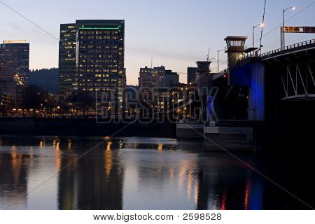 Morrison Lift Bridge Portland Oregon