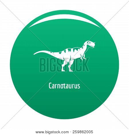 Carnotaurus Icon. Simple Illustration Of Carnotaurus Vector Icon For Any Design Green