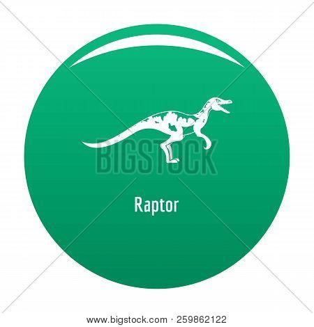 Raptor Icon. Simple Illustration Of Raptor Vector Icon For Any Design Green