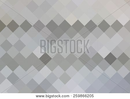 A Light Gray With Dark Gray Squares Vector Of A Modern Geometric Background. Abstract Template. Geom