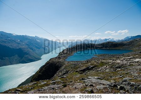 Besseggen Ridge Over Gjende Lake In Jotunheimen National Park, Norway