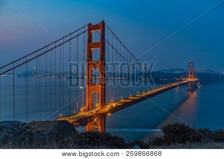 A Long Exposure Of The Golden Gate Bridge At About 6 Am In The Morning. Needed A 5 Second Exposure T
