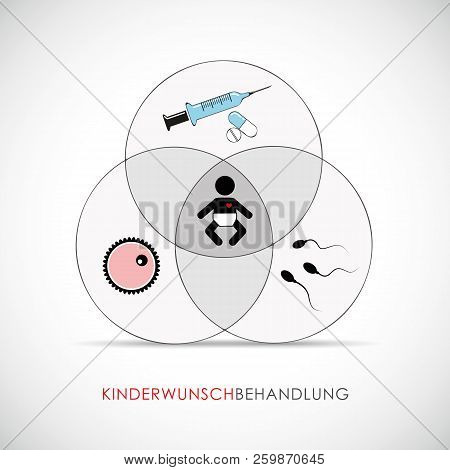 Reproductive Medicine Infertility Medical Concept Baby Pregnancy Vector Illustration Eps10