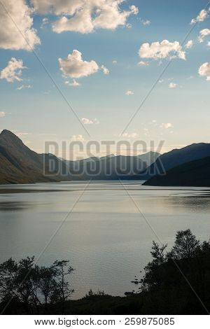 Majestic Landscape At Gjende Lake, Besseggen Ridge, Jotunheimen National Park, Norway