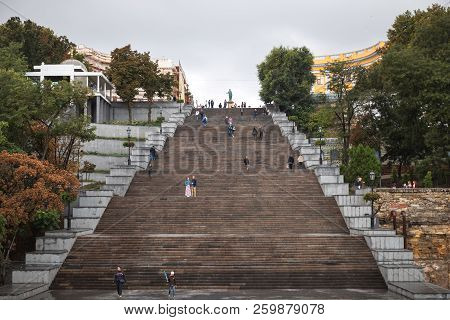 Potemkin Stairs In Odessa. Ukraine