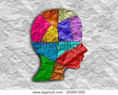Child Autism Developmental Disorder Puzzle Children Symbol As An Autistic Child Awareness Icon As Pi