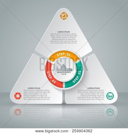 Vector Abstract 3d Paper Infographic Elements.triangle.business Infographics