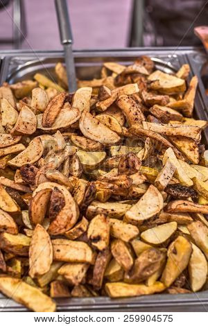 French Fries At The Market Stall, Close View