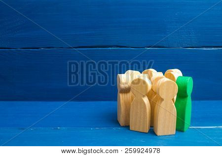 Crowd, Meeting, Social Activity. Group People Figurines. Society, Social Group. Herd Instinct, Manag