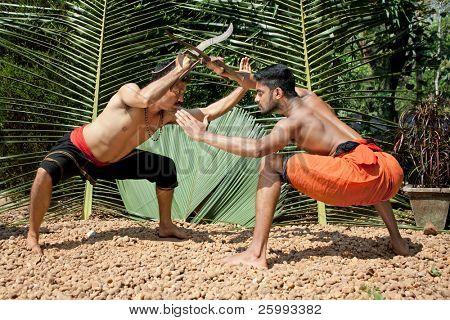 Kalarippayat, indian ancient martial art of Kerala, India poster
