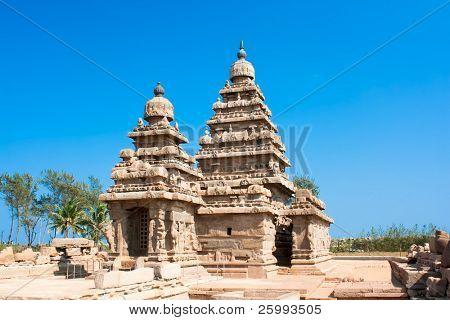Famous shore temple at Mamallapuram,Tamil Nadu,  India