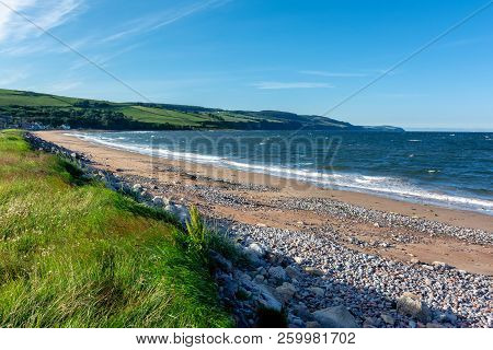 Scottish Landscape - Black Isle. A Beach Of Black Isle On A Windy Afternoon.