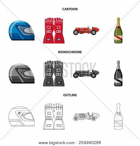 Vector Design Of Car And Rally Logo. Set Of Car And Race Stock Vector Illustration.
