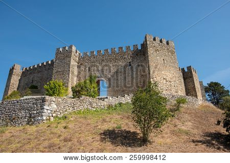 Pombal, Portugal - September 22, 2018 : Exterior Of The Pombal Castle Leiria District, Portugal