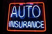 "Neon Sign series  ""auto insurance"" poster"