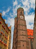 Beautiful,big and old gothic cathedral in Munich Germany poster