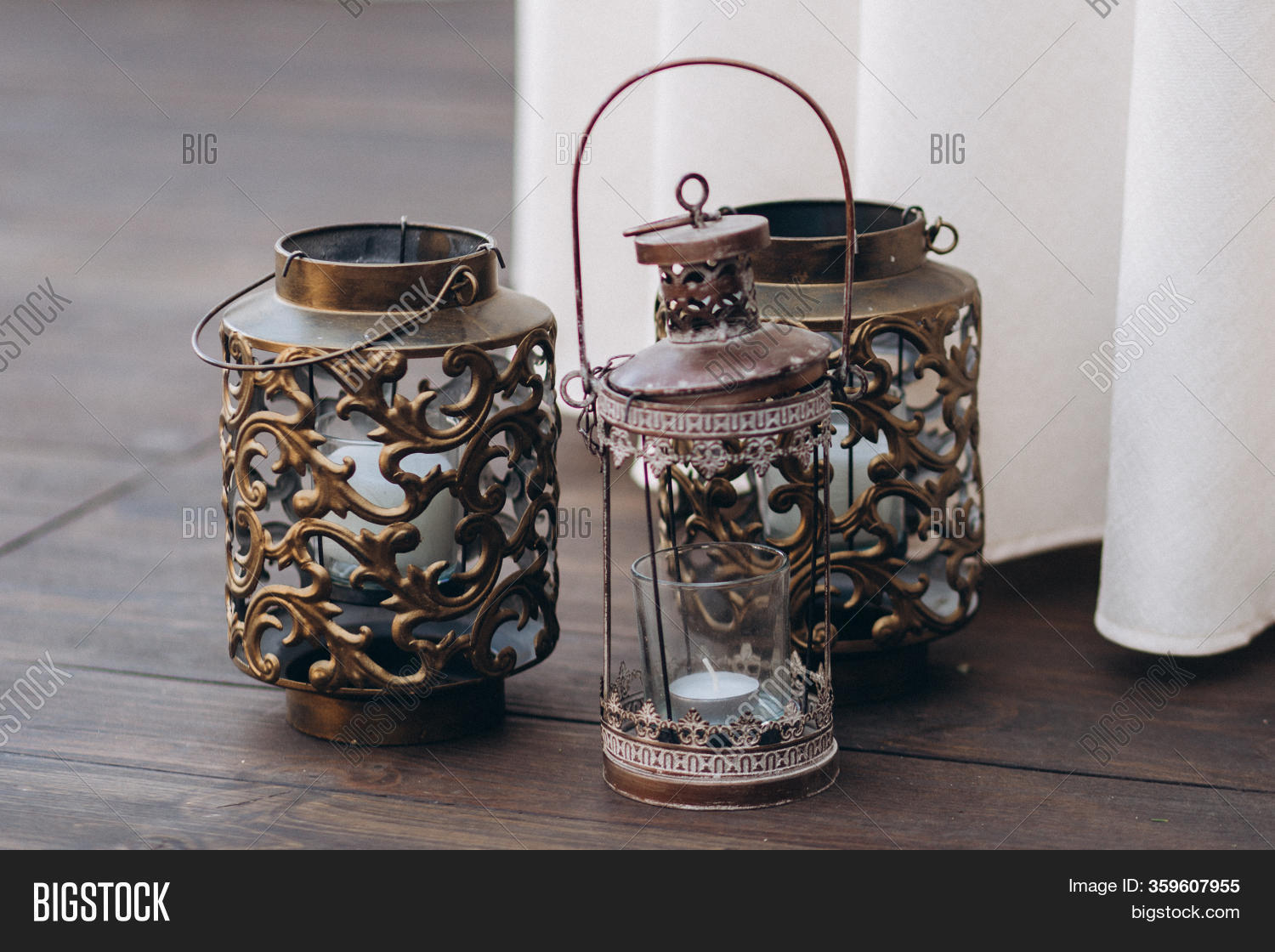 Copper Candle Holders Image Photo Free Trial Bigstock