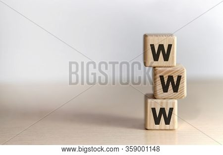 Www - World Wide Web - Non Disclosure Agreement - Text On Wooden Cubes, On White Background