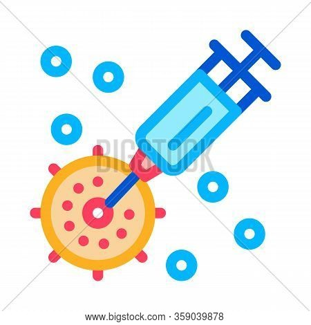 Injection Exactly To Appointed Place Icon Vector. Injection Exactly To Appointed Place Sign. Color C