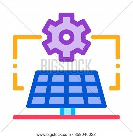 General Solar Setup Icon Vector. General Solar Setup Sign. Color Contour Symbol Illustration