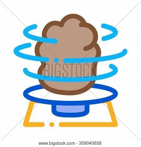 Pottery Making Process Icon Vector. Pottery Making Process Sign. Color Contour Symbol Illustration