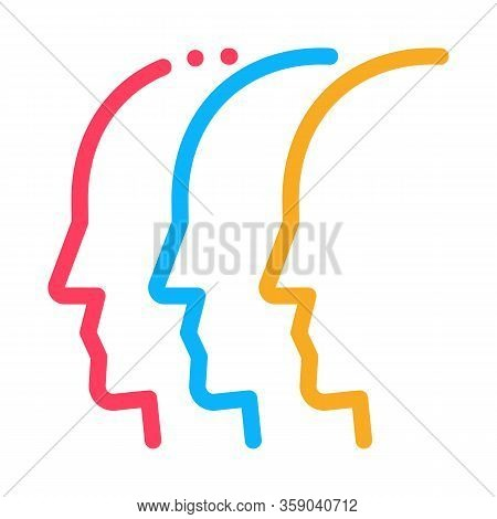 General Group Opinion Icon Vector. General Group Opinion Sign. Color Contour Symbol Illustration