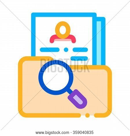 Scientific Study Of Personal Human Resource Icon Vector. Scientific Study Of Personal Human Resource