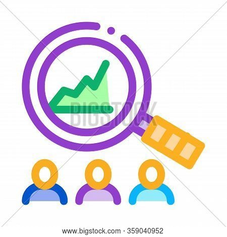 Study On Upward Profit Growth Icon Vector. Study On Upward Profit Growth Sign. Color Contour Symbol