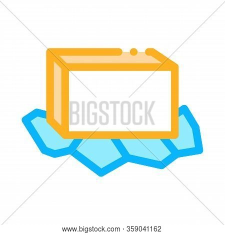 Unpacked Butter Icon Vector. Unpacked Butter Sign. Color Contour Symbol Illustration