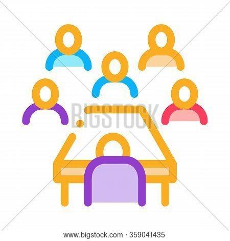 Business Seminar Icon Vector. Business Seminar Sign. Color Contour Symbol Illustration