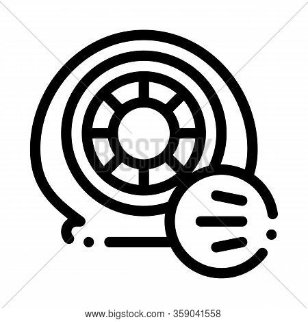 Tire Air Vent Icon Vector. Tire Air Vent Sign. Isolated Contour Symbol Illustration