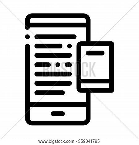 Ebook Icon Vector. Ebook Sign. Isolated Contour Symbol Illustration