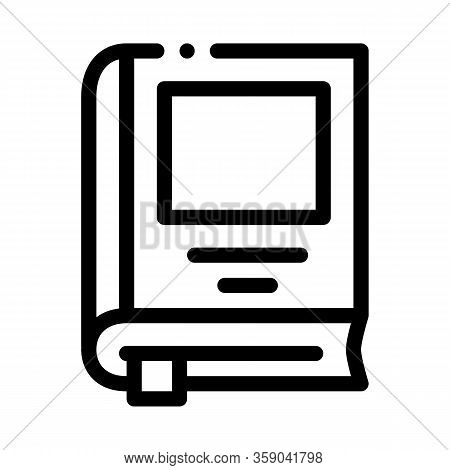 Bookmarked Book Icon Vector. Bookmarked Book Sign. Isolated Contour Symbol Illustration