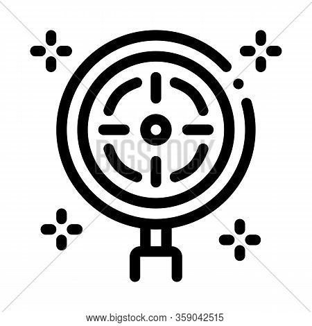 Target Detection Icon Vector. Target Detection Sign. Isolated Contour Symbol Illustration