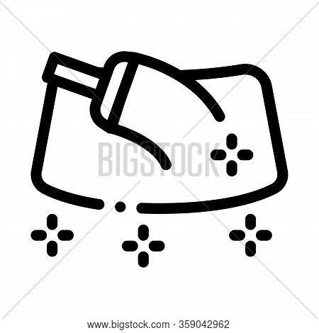 Refueling Gun Icon Vector. Refueling Gun Sign. Isolated Contour Symbol Illustration