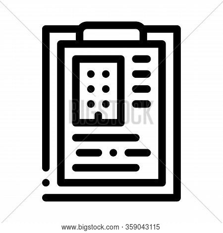 Estimate House Information Icon Vector. Estimate House Information Sign. Isolated Contour Symbol Ill