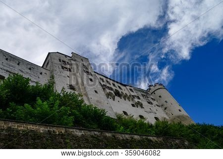 Medieval Hohensalzburg Castle (festung Hohensalzburg), Salzburger Land, Austria.