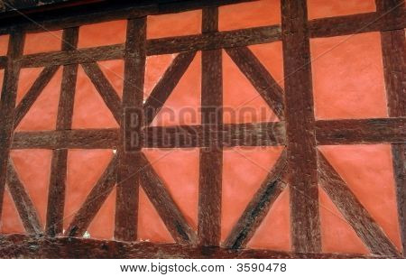 Timber Red Wall Frame