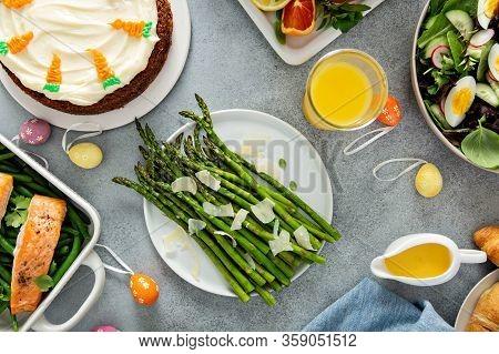 Roasted Asparagus With Parmesan For Easter Brunch