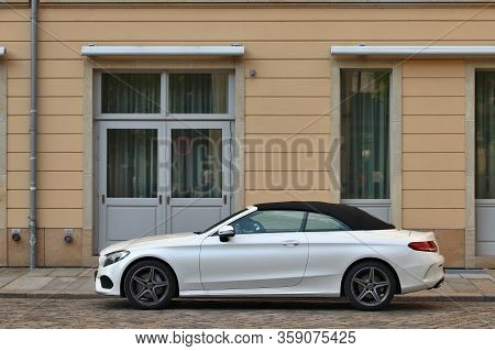 Dresden, Germany - May 10, 2018: Mercedes-benz Cla Cabrio Subcompact Executive Car Parked In Germany