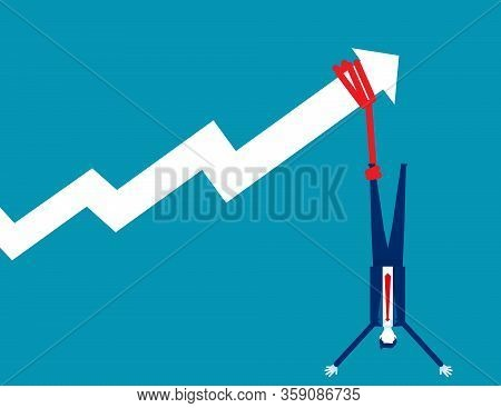 Inflation Making Any Impact On Savings And Investments. Concept Bsuiness Inflation And Taxses Vector
