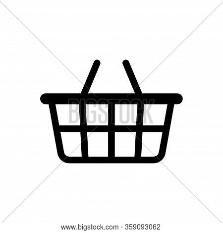 Basket Icon. Vector Isolated Icon. Online Shopping Sign Or Symbol. Buy Shop. Eps 10