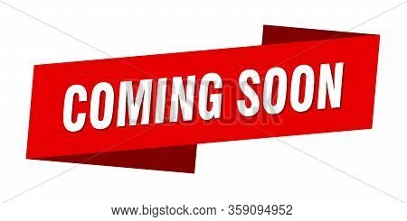 Coming Soon Banner Template. Coming Soon Ribbon Label Sign