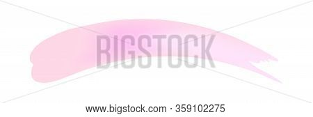 Pink Brush Marks Soft Isolated On White, Brushstroke Pink For Watercolor Paint Idea, Pink Stripe Bru