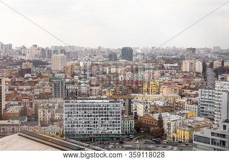 Roofs And Streets Of The City Of Kyiv, Ukraine